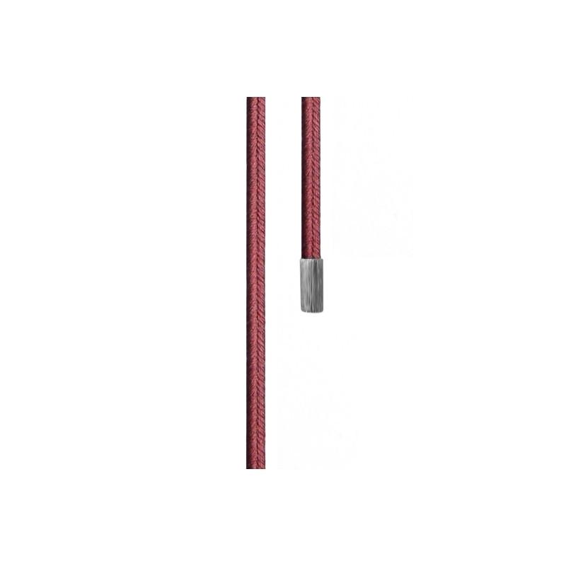 Image of   Ole Lynggaard Dobbelt design snor vinrød Sterling sølv endestykker længde 130 cm