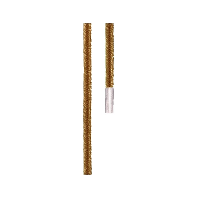 Ole Lynggaard Dobbelt design snor camel endestykker lige 18 karat hvidguld længde 130 cm