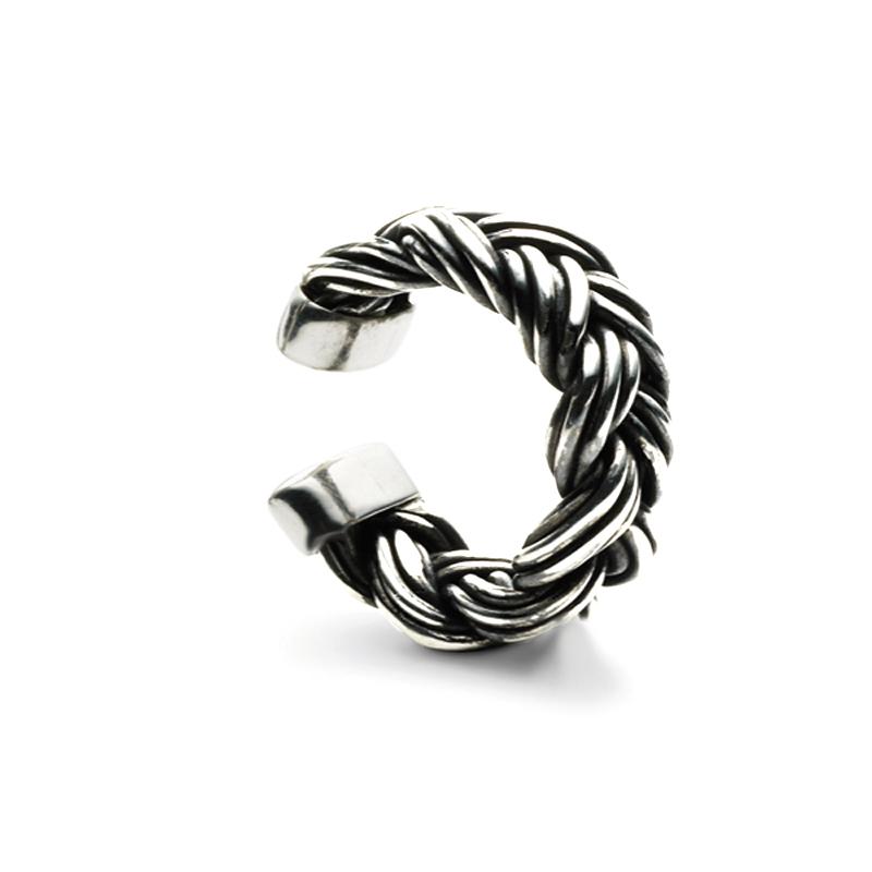 Ole Lynggaard Zeus flettet ring, sølv