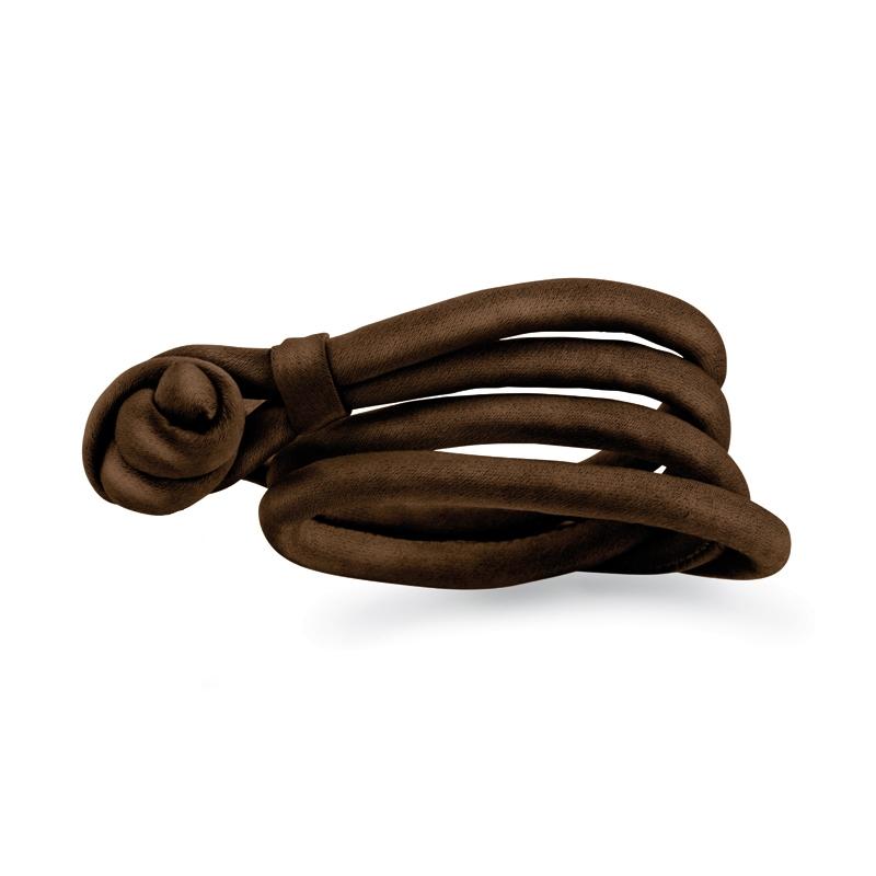 Ole Lynggaard Silkearmbånd chokolade brunt til Sweet Drops (str. XS-XL)