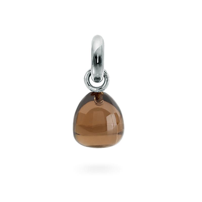 Ole Lynggaard Charm Sweet Drops røgkvarts 18 kt. hvidguld, 1 brill. 0,015 ct.
