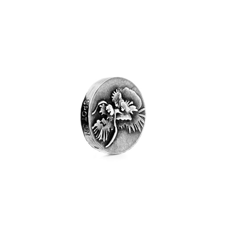 Ole Lynggaard Charm Spot On i hvidguld med dragemønster
