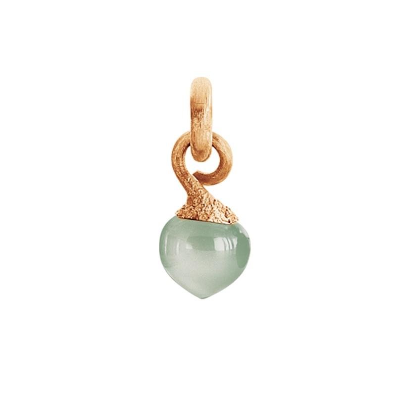 Image of   Ole Lynggaard Charm lille Sweet Drops top 18 karat rosaguld satineret opluk akvamarin cabochon