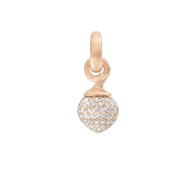 Image of   Ole Lynggaard Charm lille Sweet Drops 18 karat rosaguld med rødgulds pavé 115 brill. i alt 0,68 ct. TW.VS.