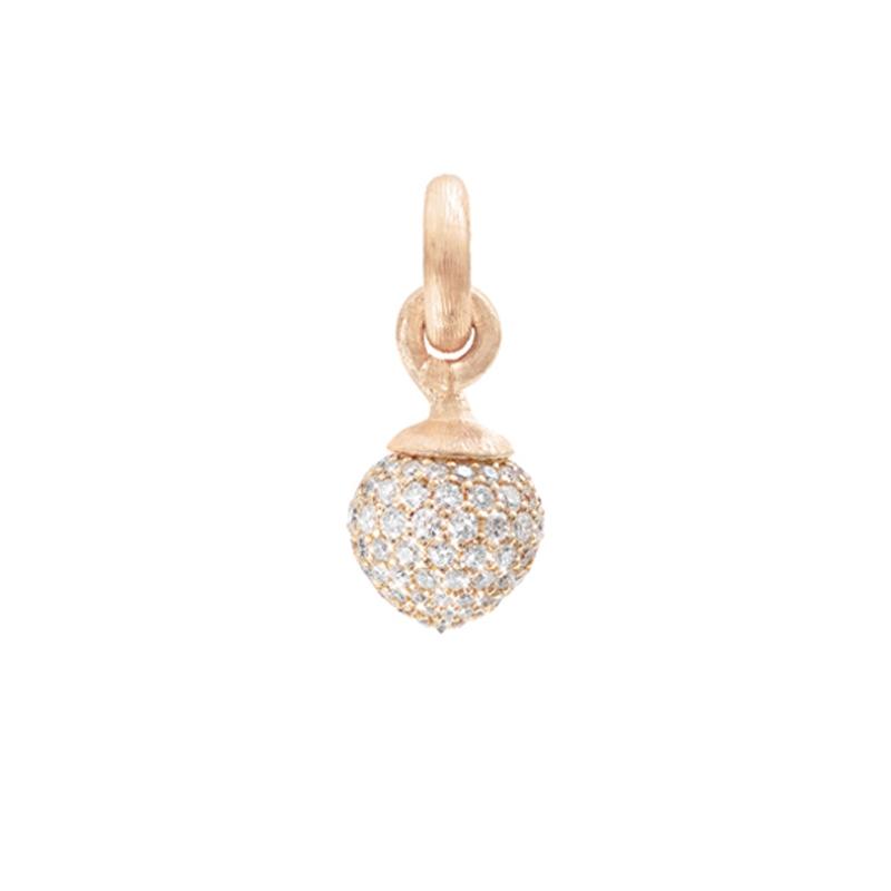 Image of   Ole Lynggaard Charm stor Sweet Drops 18 karat rosaguld med rødgulds pavé 115 brill. i alt 1,37 ct. TW.VS.