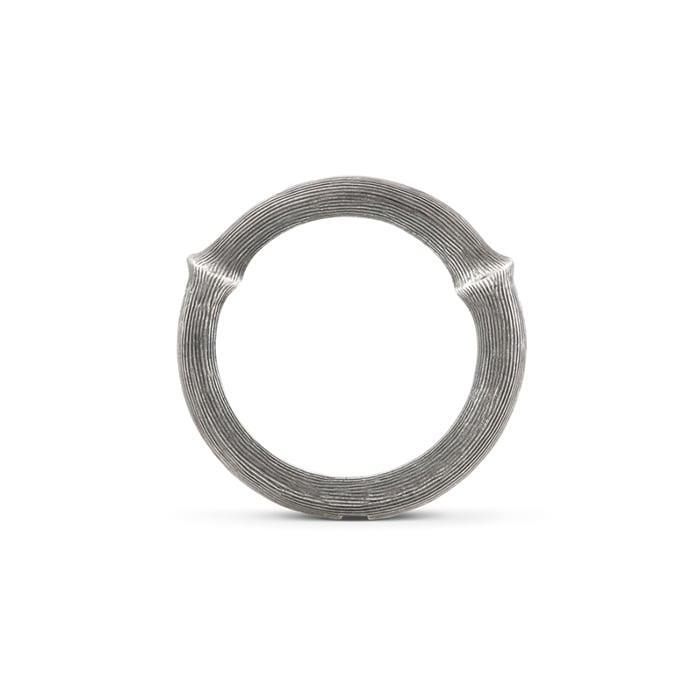 Ole Lynggaard Silver Nature ring i sølv, let oxyderet, Nr. 4