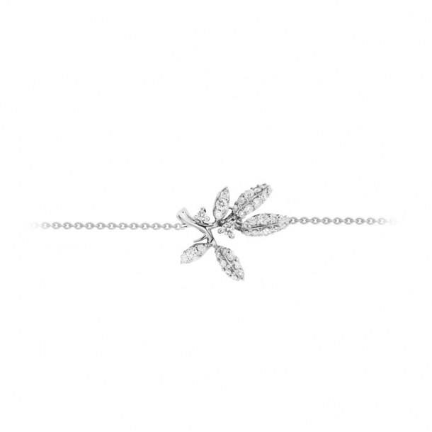 Ole Lynggaard Collier Winter Frost 18 karat hvidguld 36 brill. i alt 0,21 ct. TW.VS. (40/42/45 cm)