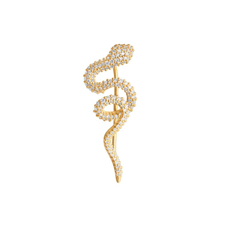 Ole Lynggaard Snak ørering i guld med brillanter, 1 stk