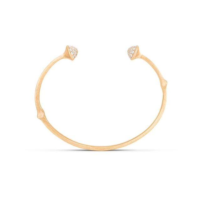 Image of   Ole Lynggaard Nature Armring i guld med brillanter - 16 cm
