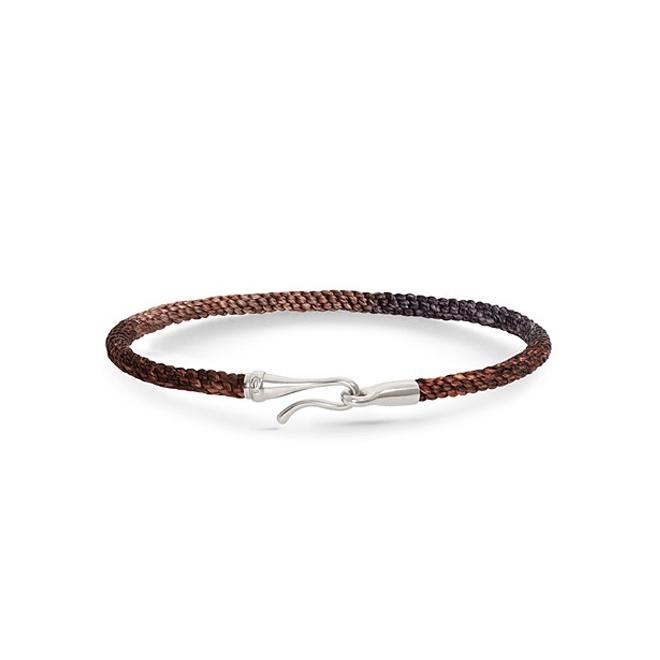Ole Lynggaard Life armbånd i velvet nylon med sølv krog