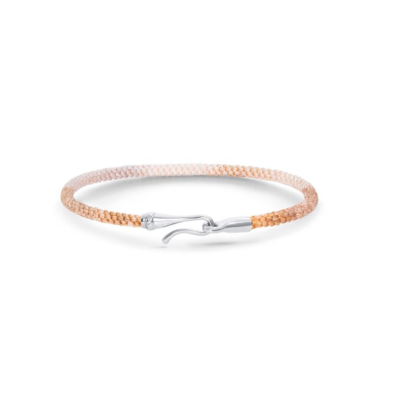 Ole Lynggaard Life armbånd i gylden nylon med sølv krog