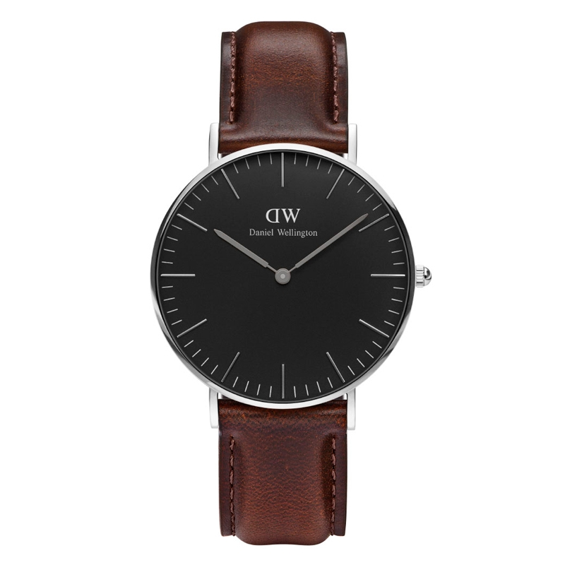 Image of   Daniel Wellington Classic Black Bristol i stål - 36 mm