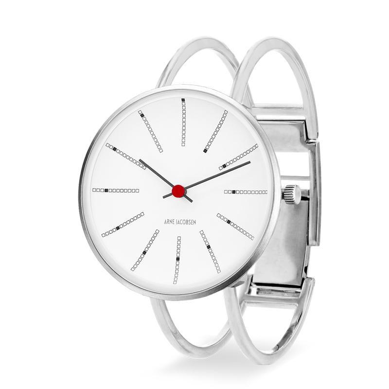 Image of   Arne Jakobsen Bankers armbåndsur 34mm i stål med bøjle