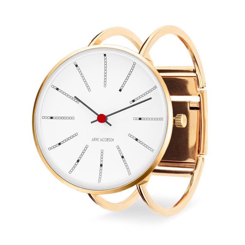 Image of   Arne Jakobsen Bankers armbåndsur 40mm i guldfarvet med bøjle