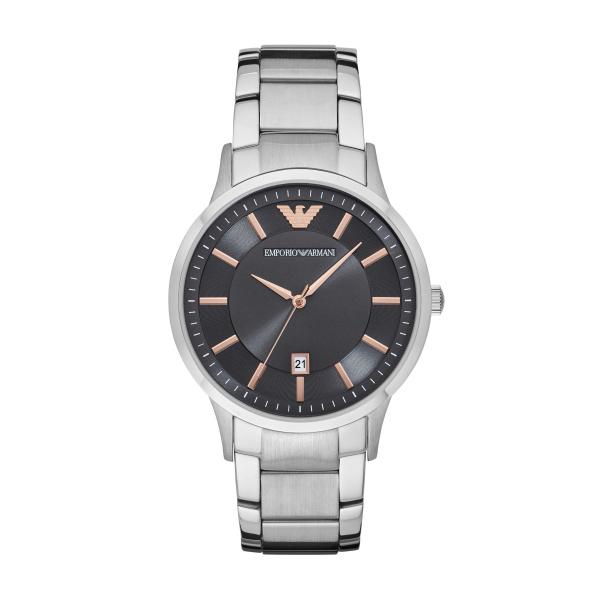 Billede af Emporio Armani Renato armbåndsur i stål med grå/brun skive