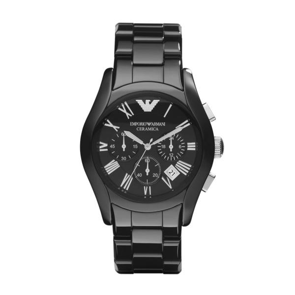Image of   Emporio Armani sort Ceramic Valente chronograph armbåndsur