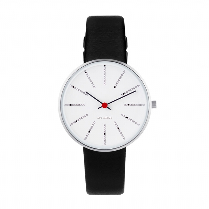 Image of   Arne Jacobsen Bankers Watch Unisexur, ø34mm med sort rem