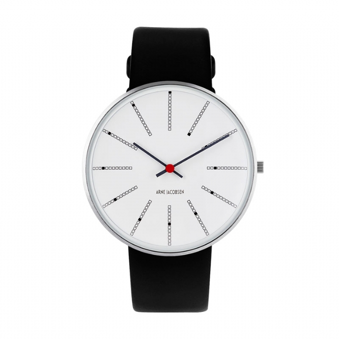 Image of Arne Jacobsen Bankers Watch armbåndsur ø40mm med sort rem