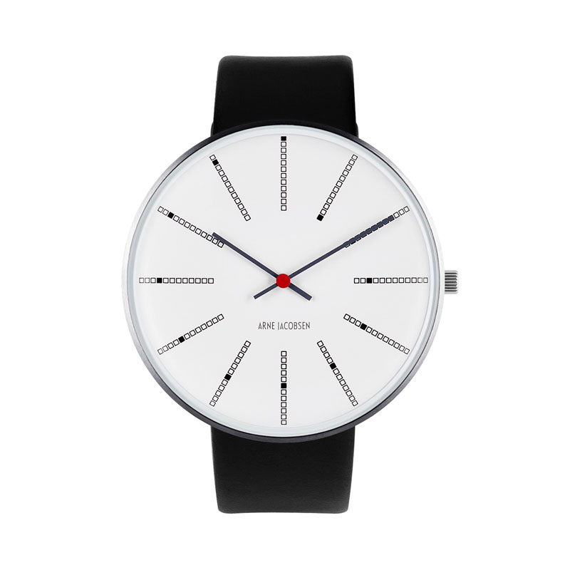 Image of Arne Jacobsen Bankers Watch 46 mm Unisexur, ø med bred sort rem