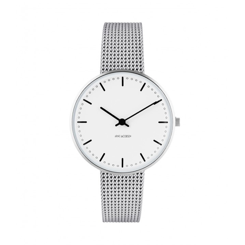 Image of   Arne Jacobsen City Hall Watch armbåndsur, ø34 mm mesh lænke