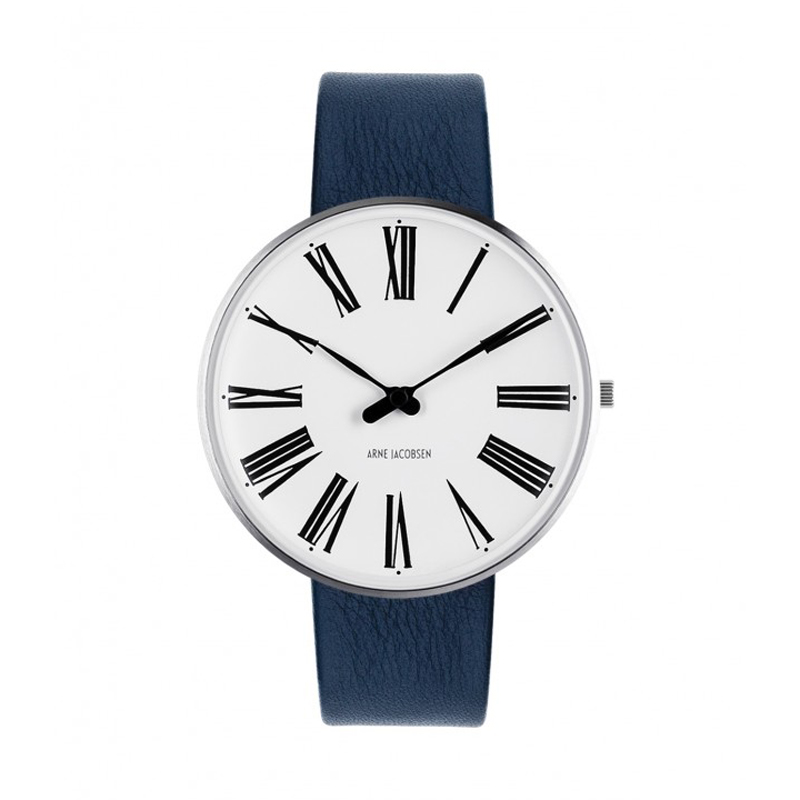 Image of   Arne Jacobsen Roman Watch Ø40mm unisexur, med blå rem