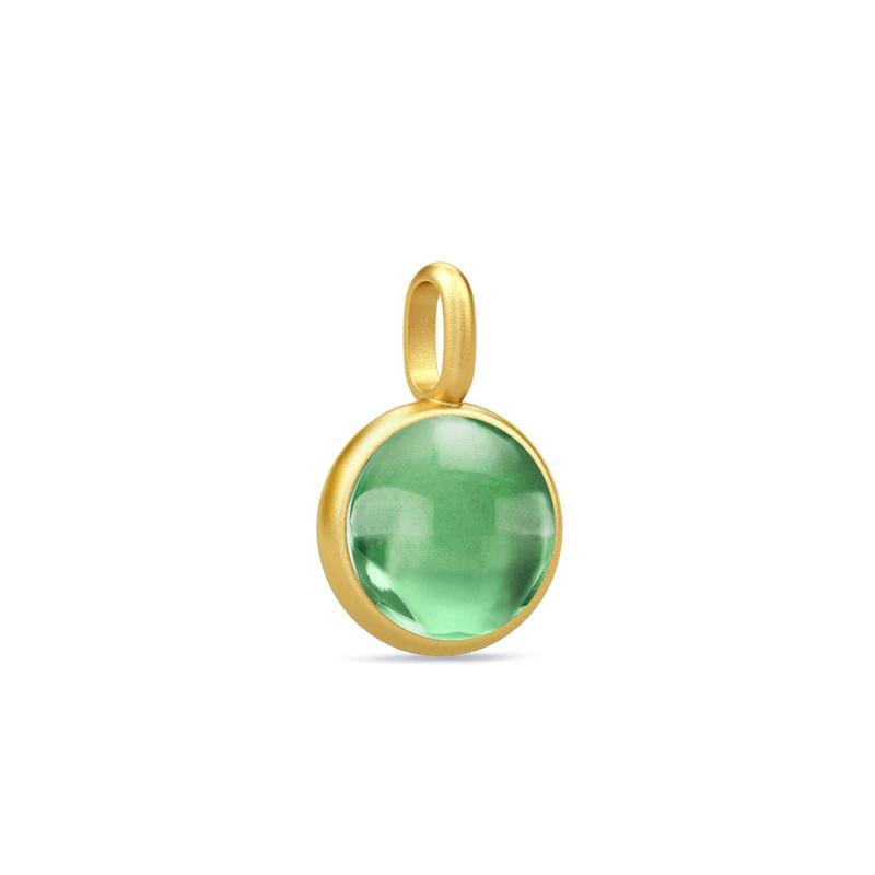 Image of   Julie Sandlau Prime vedhæng, forgyldt med grøn ametyst krystal