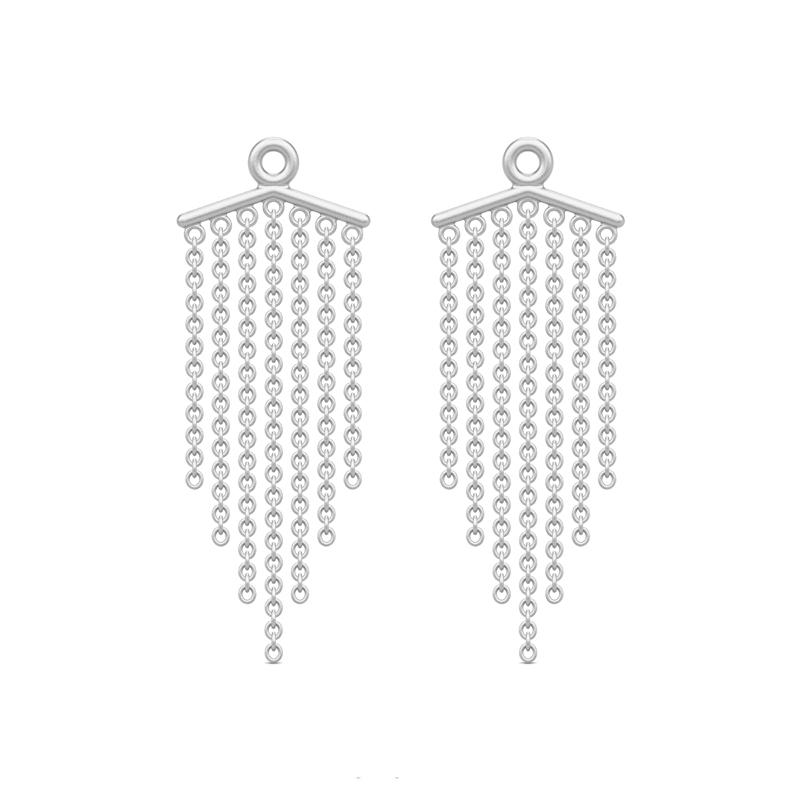 Julie Sandlau Ocean backdrop ørevedhæng i sølv