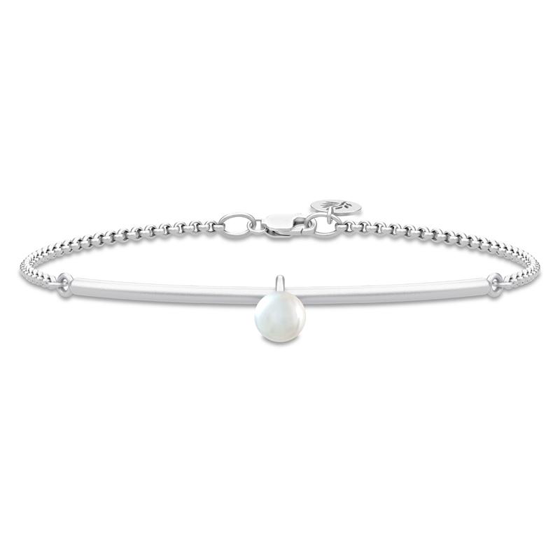 Image of   Julie Sandlau Perla armbånd i sølv med hvid perle