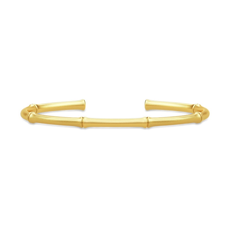 Image of   Julie Sandlau Bamboo Bangle i forgyldt