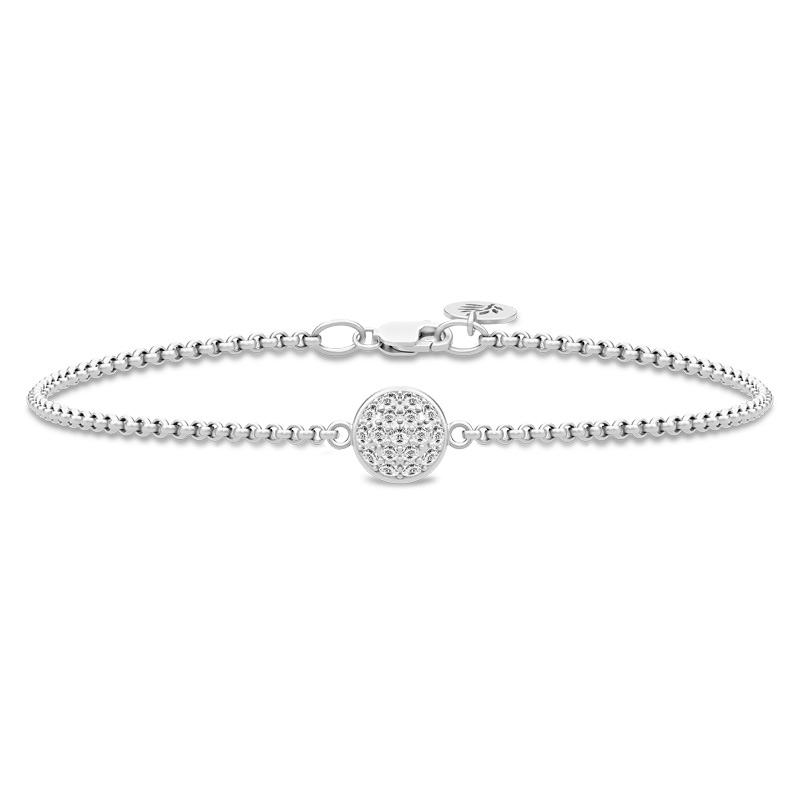 Image of   Julie Sandlau Glory armbånd i rhodineret sølv med zirkoner