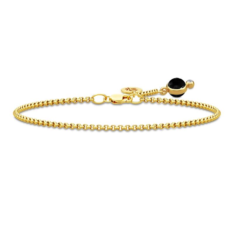 Julie Sandlau Prime armbånd i forgyldt med sort onyx og cz - limited edition