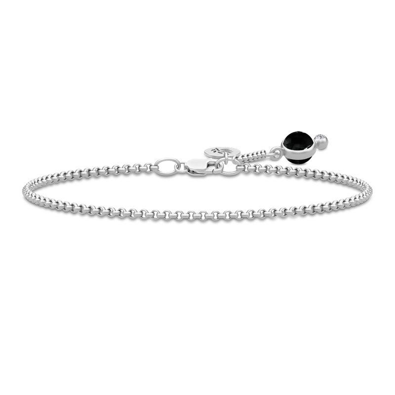 Julie Sandlau Prime armbånd i sølv med sort onyx og cz - limited edition