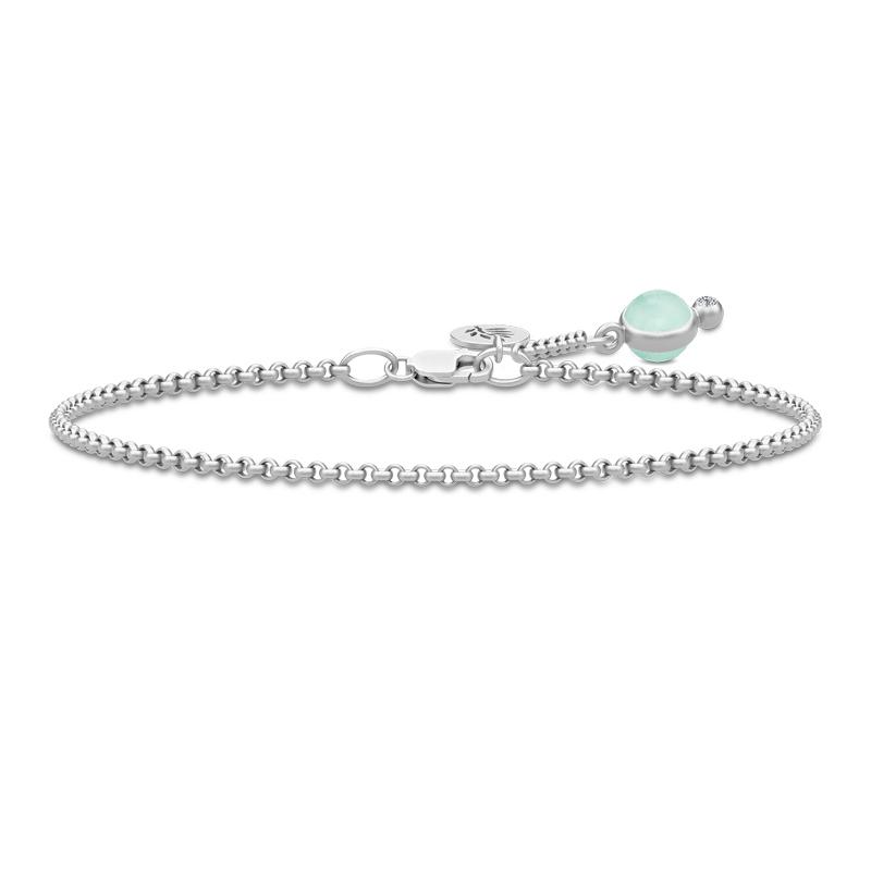 Julie Sandlau Prime armbånd i sølv med lysegrøn krystal og cz - limited edition