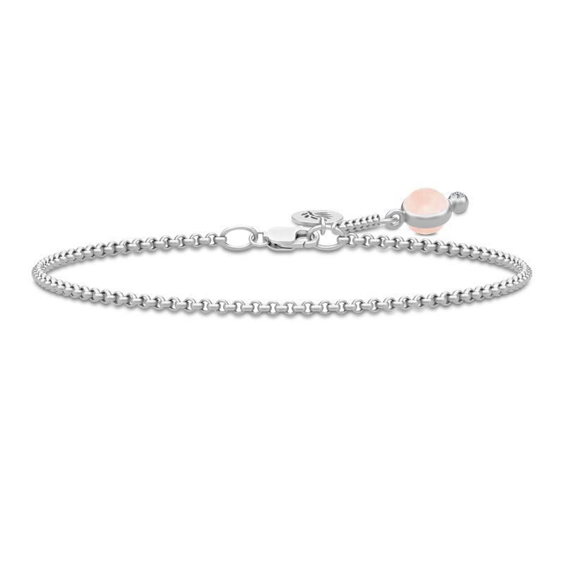 Julie Sandlau Prime armbånd i sølv med lyserød krystal og cz - limited edition
