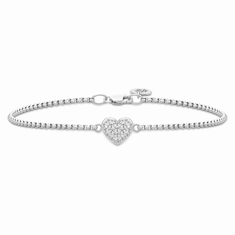 Image of   Julie Sandlau Pure Heart armbånd i sølv med cz