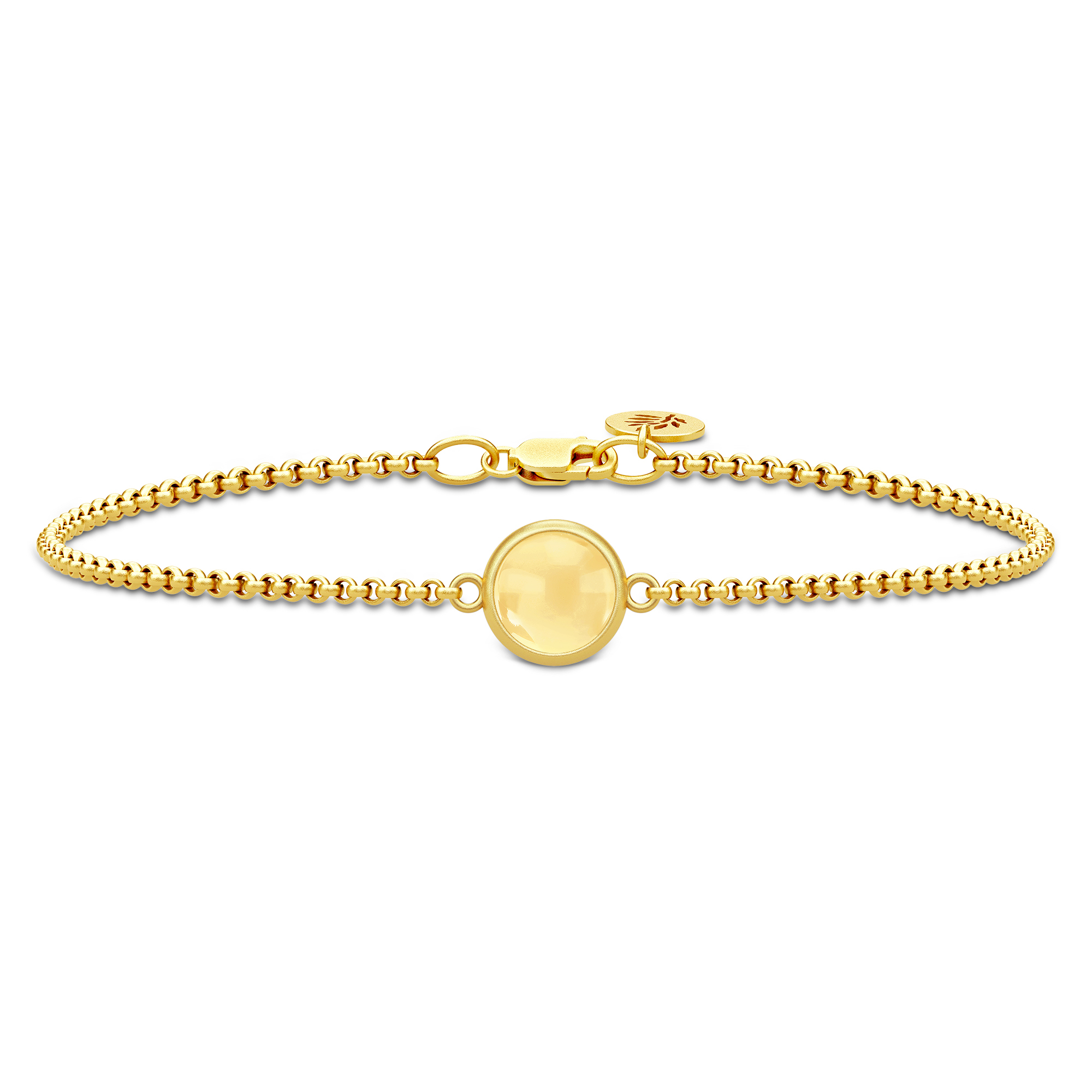 Julie Sandlau Primini armbånd i forgyldt med gul citrin krystal