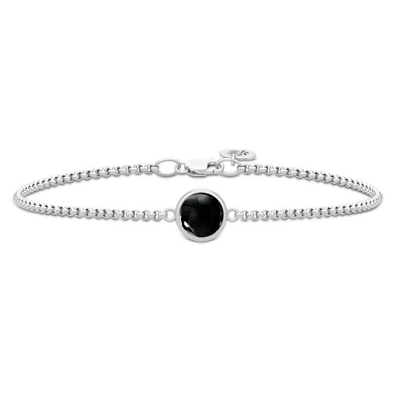 Image of   Julie Sandlau Primini armbånd i sølv med sort krystal