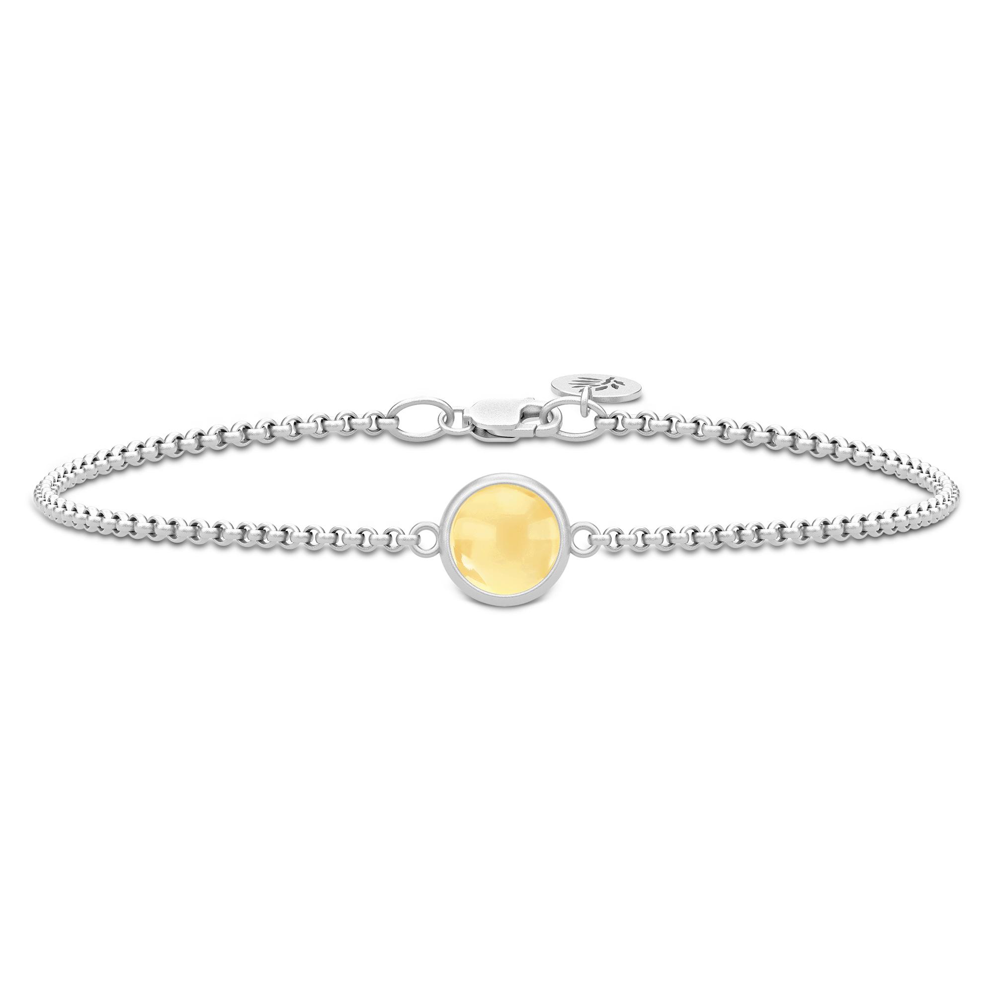 Julie Sandlau Primini armbånd i sølv med gul citrin krystal