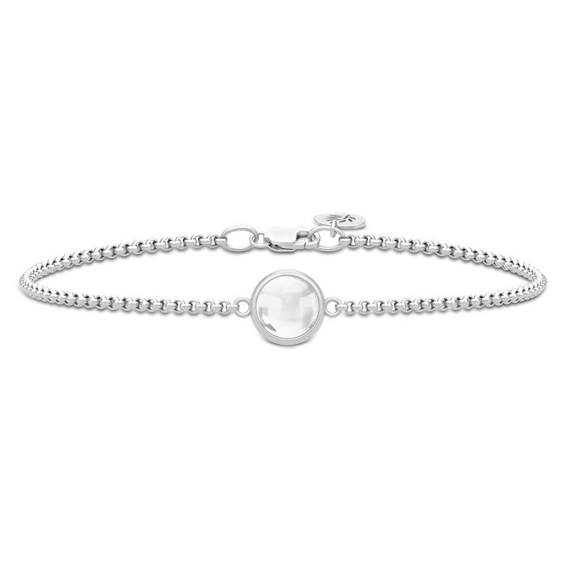 Julie Sandlau Primini armbånd i sølv med klar krystal