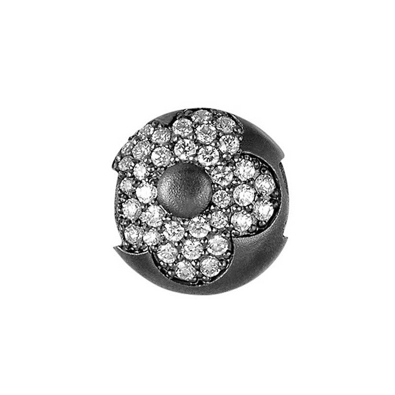 Charms - sort sølv
