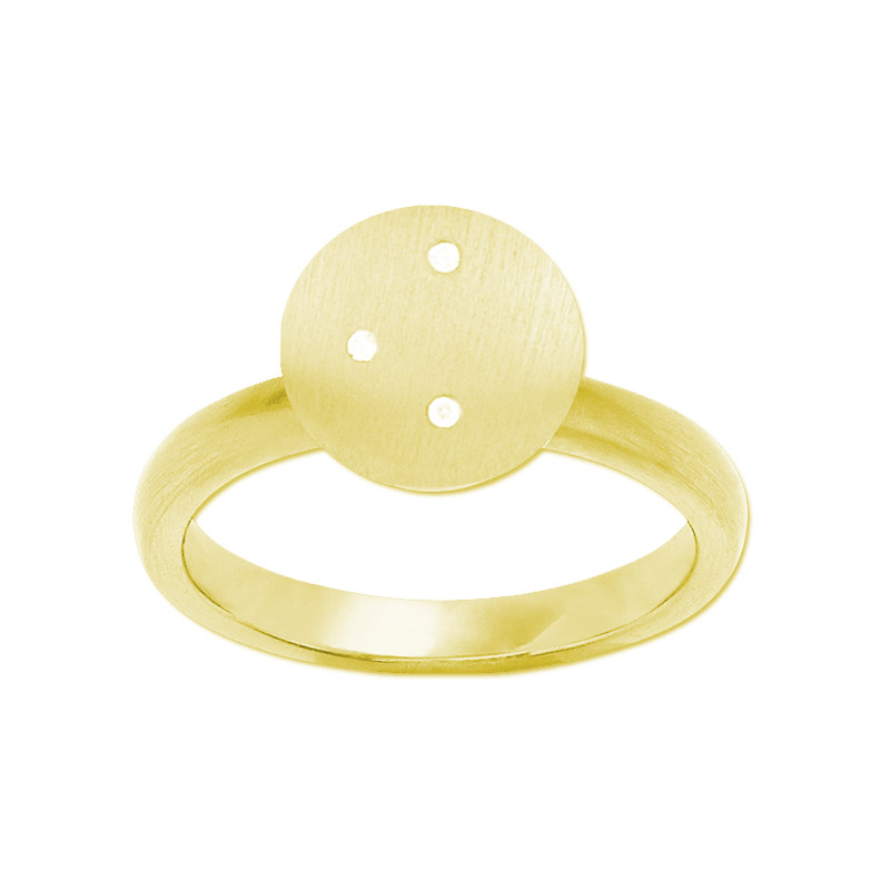 ByBiehl Mini Starry ring, forgyldt med cz