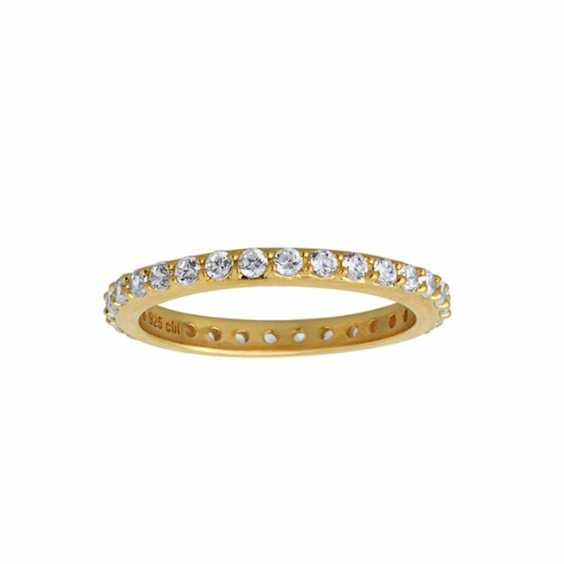 Image of   By Biehl Sparkle ring forgyldt med CZ