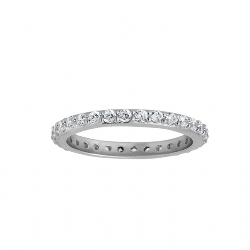 Image of   By Biehl Sparkle Ring Sølv med CZ