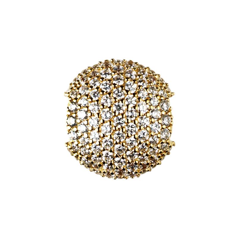 ByBiehl Brilliance Sparkle gold, forgyldt med hvide sten