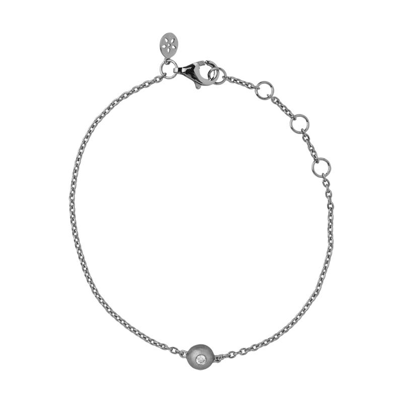 ByBiehl Iris armbånd med vedhæng, sølv med 0,03 ct. diamant