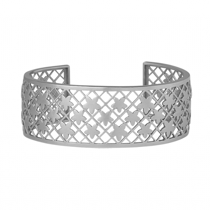 ByBiehl Lace bangle Forget Me Not, sølv armring