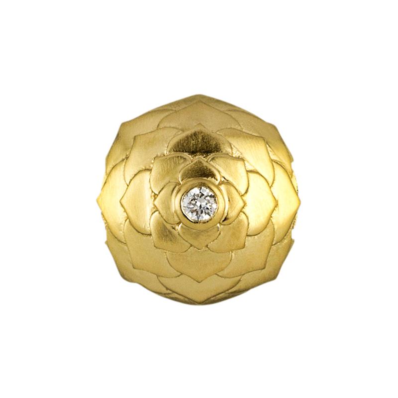 ByBiehl Floral Lotus charm forgyldt