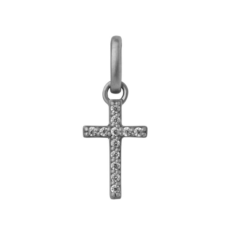 Image of   ByBiehl Love & Friendship kors vedhæng, sølv med cz