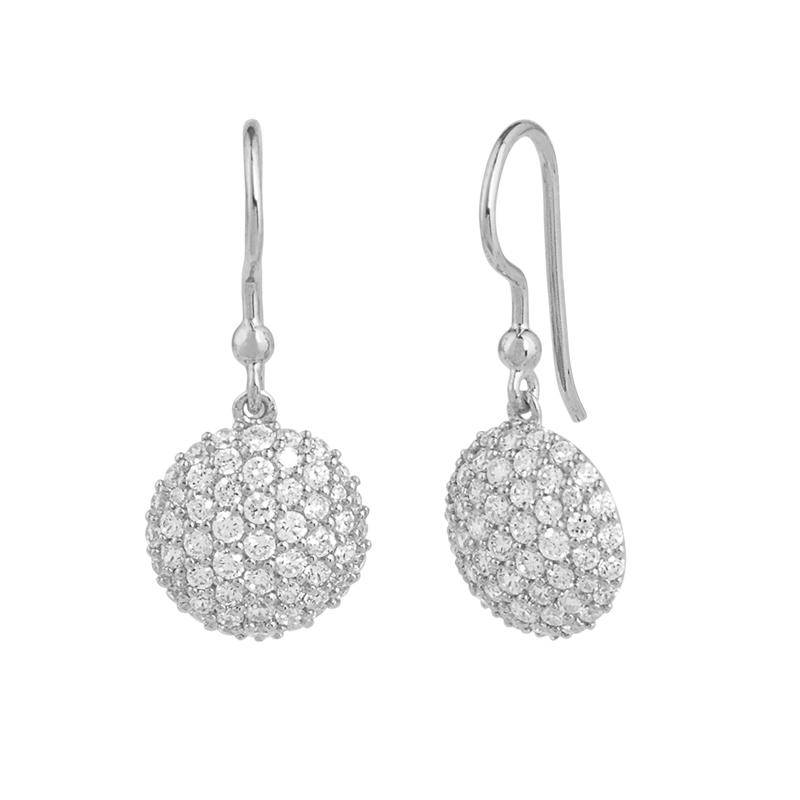 Image of   ByBiehl Mini Sparkle ørehænger sølv med hvide zirkonia