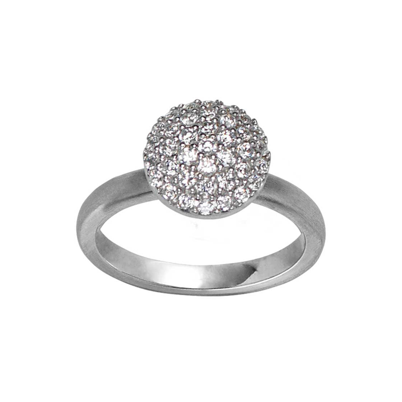 Image of   ByBiehl Mini Sparkle ring sølv med hvide zirkonia